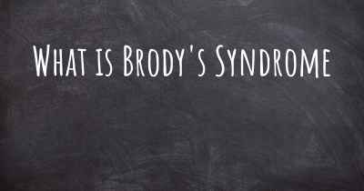 What is Brody's Syndrome