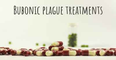 Bubonic plague treatments