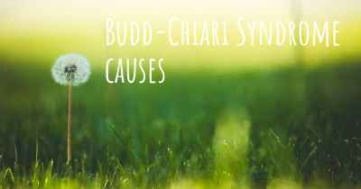 Budd-Chiari Syndrome causes