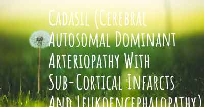 Cadasil (Cerebral Autosomal Dominant Arteriopathy With Sub-Cortical Infarcts And Leukoencephalopathy) causes