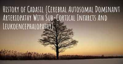 History of Cadasil (Cerebral Autosomal Dominant Arteriopathy With Sub-Cortical Infarcts And Leukoencephalopathy)