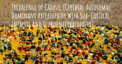 Prevalence of Cadasil (Cerebral Autosomal Dominant Arteriopathy With Sub-Cortical Infarcts And Leukoencephalopathy)
