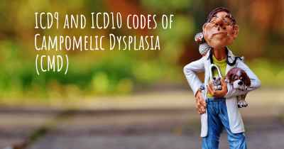 ICD9 and ICD10 codes of Campomelic Dysplasia (CMD)