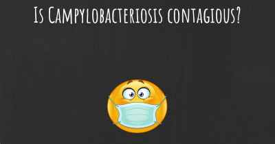 Is Campylobacteriosis contagious?