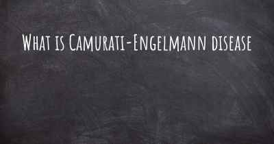 What is Camurati-Engelmann disease