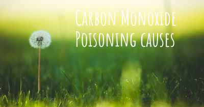 Carbon Monoxide Poisoning causes