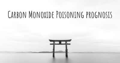 Carbon Monoxide Poisoning prognosis