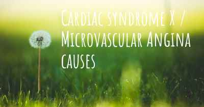 Cardiac syndrome X / Microvascular Angina causes