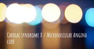 Cardiac syndrome X / Microvascular Angina cure