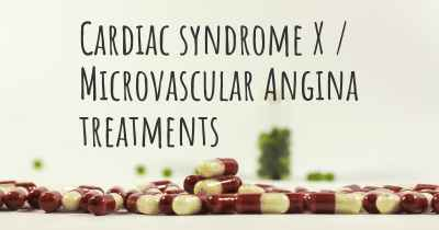Cardiac syndrome X / Microvascular Angina treatments