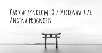Cardiac syndrome X / Microvascular Angina prognosis