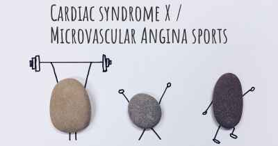 Cardiac syndrome X / Microvascular Angina sports