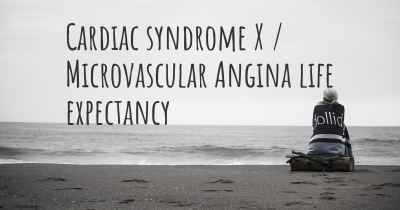 Cardiac syndrome X / Microvascular Angina life expectancy