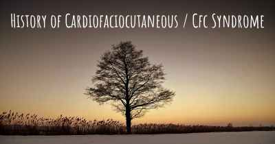History of Cardiofaciocutaneous / Cfc Syndrome