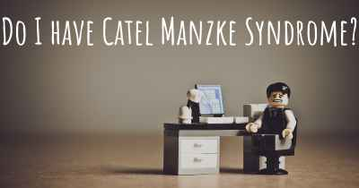 Do I have Catel Manzke Syndrome?