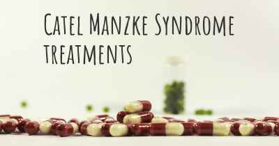 Catel Manzke Syndrome treatments