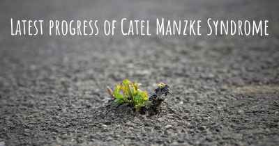 Latest progress of Catel Manzke Syndrome