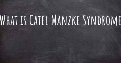 What is Catel Manzke Syndrome