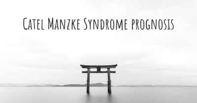 Catel Manzke Syndrome prognosis