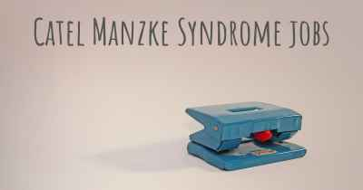 Catel Manzke Syndrome jobs