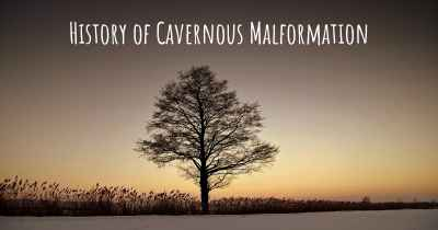 History of Cavernous Malformation