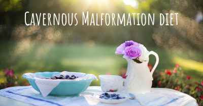 Cavernous Malformation diet
