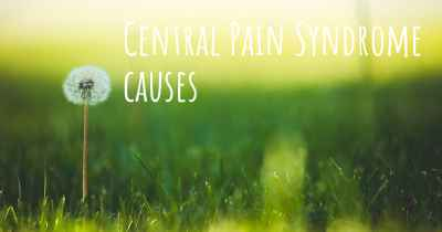 Central Pain Syndrome causes