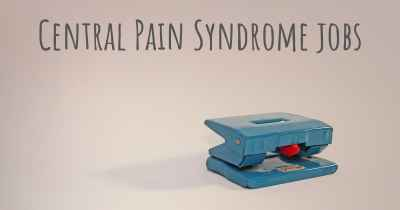 Central Pain Syndrome jobs