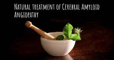 Natural treatment of Cerebral Amyloid Angiopathy