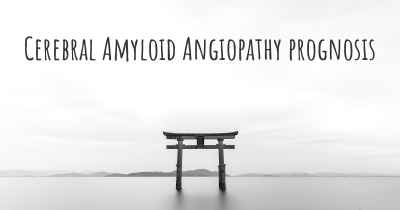Cerebral Amyloid Angiopathy prognosis