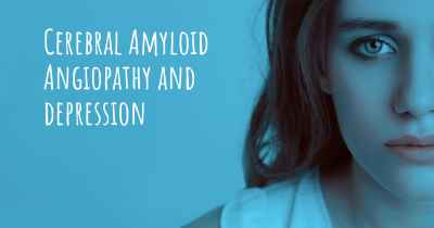 Cerebral Amyloid Angiopathy and depression