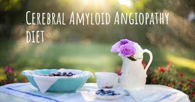 Cerebral Amyloid Angiopathy diet