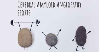 Cerebral Amyloid Angiopathy sports