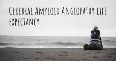 Cerebral Amyloid Angiopathy life expectancy