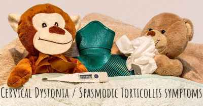 Cervical Dystonia / Spasmodic Torticollis symptoms