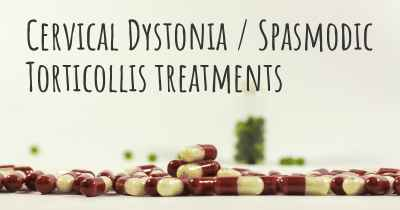 Cervical Dystonia / Spasmodic Torticollis treatments