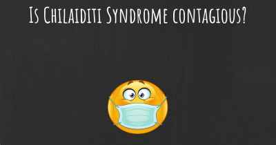 Is Chilaiditi Syndrome contagious?