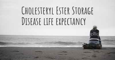Cholesteryl Ester Storage Disease life expectancy