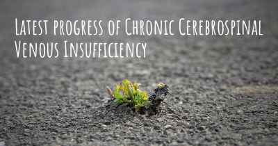 Latest progress of Chronic Cerebrospinal Venous Insufficiency