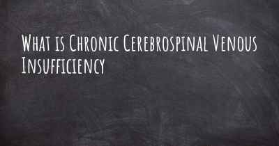 What is Chronic Cerebrospinal Venous Insufficiency
