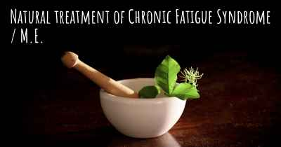 Natural treatment of Chronic Fatigue Syndrome / M.E.