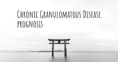 Chronic Granulomatous Disease prognosis