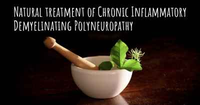 Natural treatment of Chronic Inflammatory Demyelinating Polyneuropathy