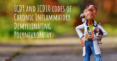 ICD9 and ICD10 codes of Chronic Inflammatory Demyelinating Polyneuropathy