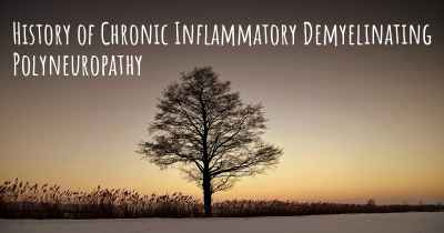 History of Chronic Inflammatory Demyelinating Polyneuropathy