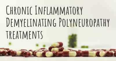 Chronic Inflammatory Demyelinating Polyneuropathy treatments