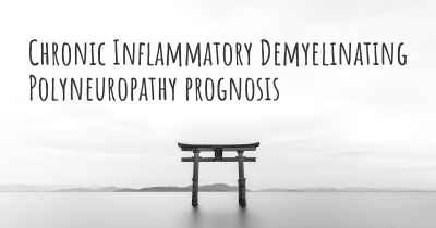 Chronic Inflammatory Demyelinating Polyneuropathy prognosis