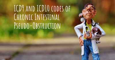 ICD9 and ICD10 codes of Chronic Intestinal Pseudo-Obstruction