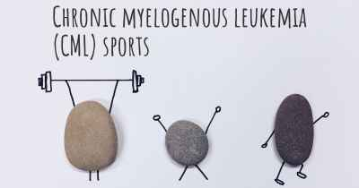 Chronic myelogenous leukemia (CML) sports