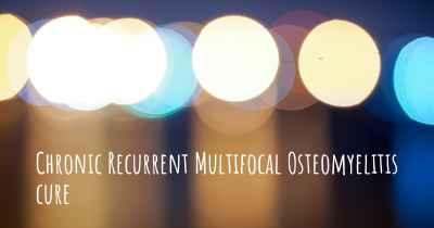 Chronic Recurrent Multifocal Osteomyelitis cure